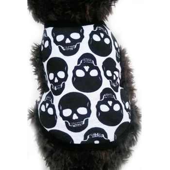 Pet Cat Dog Summer Cloth Skulls Patterns Vests Puppy Cotton T Shirt for Summer Pet Apparel Dog Cool Costume Soft Vest Cloth