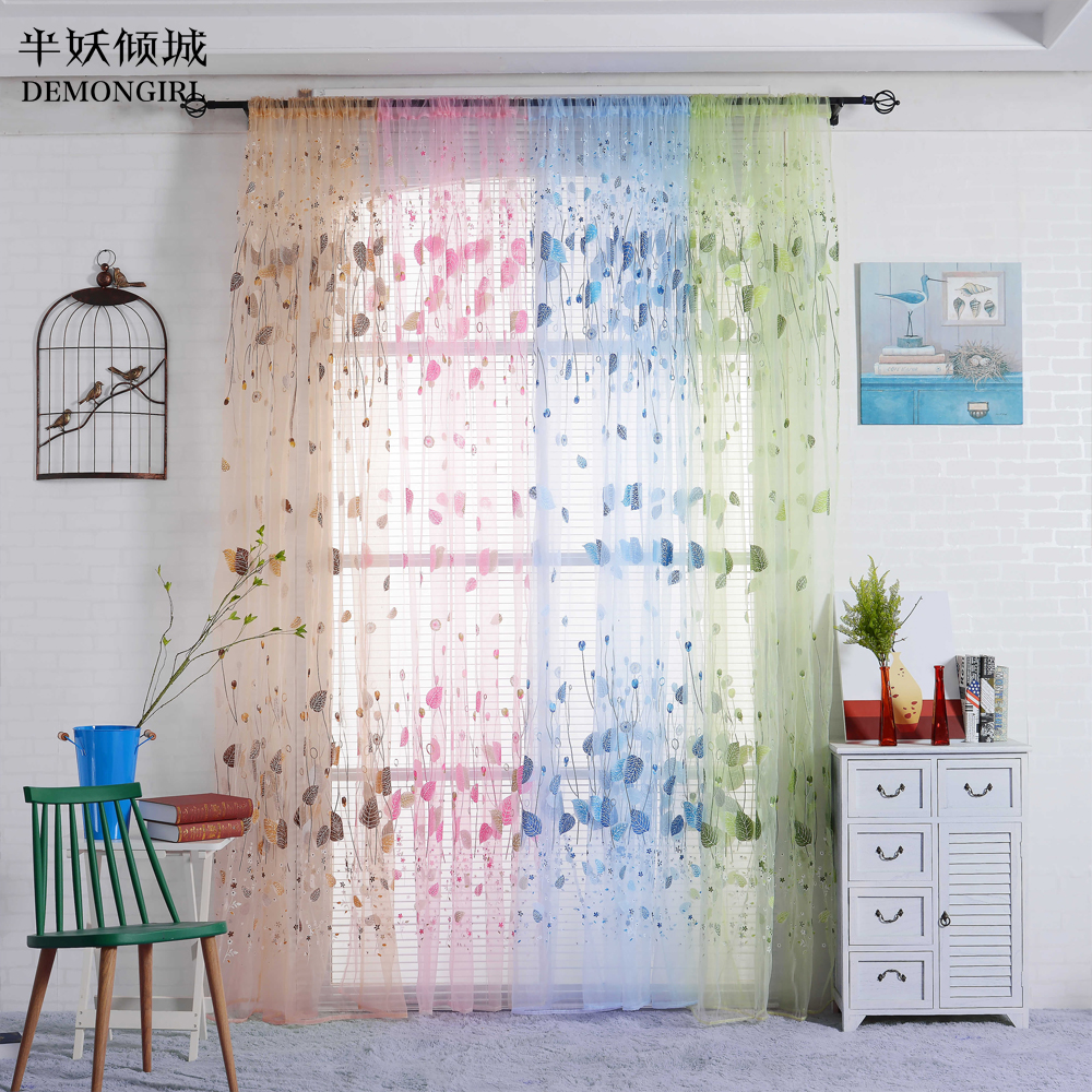 Printed Curtains Living Room Online Get Cheap Printed Sheer Curtains Aliexpresscom Alibaba