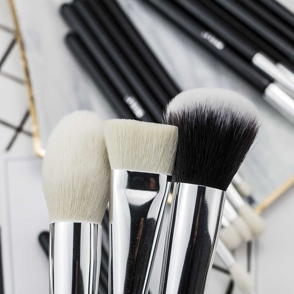 ביילי שחור מלא מקצועי קרן אבקת קונסילר קונטור טבעי עיזים שיער עיניים מיזוג 30 חתיכות איפור מברשת סט