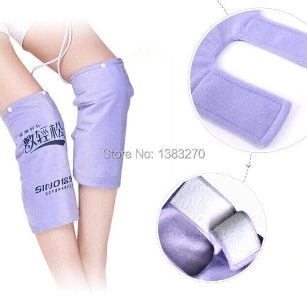 Un par de alfombrillas calefactoras con almohadilla de calor eléctrica para el cuerpo del pie calentador de piernas terapia caliente dolor de rodilla - 2