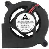 Gdstime PC Brushless DC Cooling Blower Fan 5020 24V 50x50x20mm 2 Pin Black