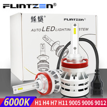 купить Flintzen All metal h4 led car headlight for toyota corolla bmw Honda golf ect. h1 h11 h7 led car light AUTO car headlight bulbs дешево