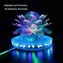 f54c696c993 Girasol efecto iluminación partido etapa RGB LED lámparas Auto bola mágica  de cristal giratoria bombilla DJ Disco Club Luz