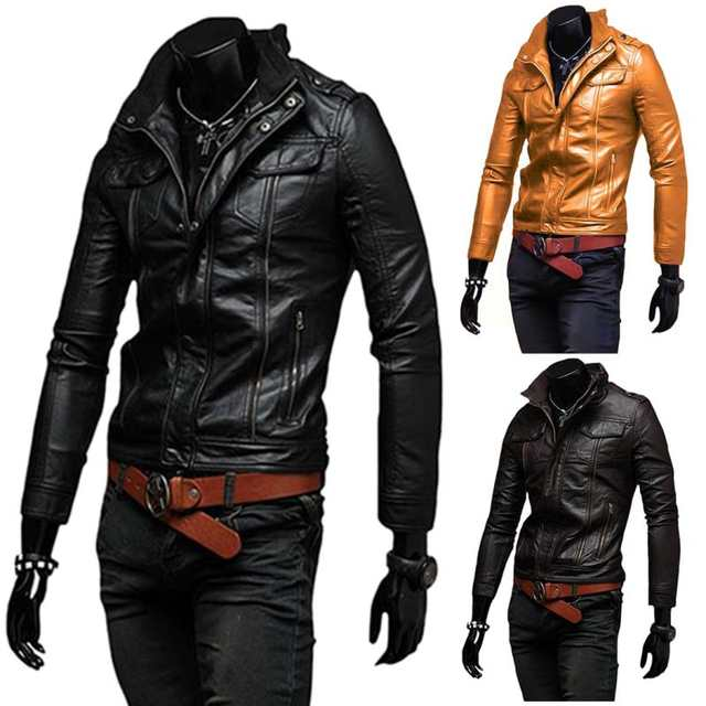 39b688e9 Men Leather Jacket High Quality Fashion Motorcycle Style Male Business  Casual Coat Western Mens Cowboy Jackets