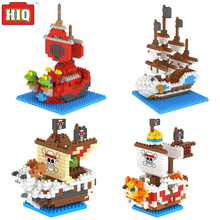 ONE PIEC Building Blocks chopping block Pirates boat Style Cartoon Animal Science Puzzle Plastic action Figures Educational Toys