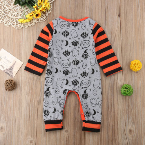 e76436bd6d2 Halloween Pumpkin Infant Baby Boys Girls Romper Long Sleeve Jumpsuit  Playsuit Bodysuit Outfits Holiday Baby Clothing-in Rompers from Mother    Kids on ...