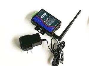 Módulo WIFI, Ethernet RJ45 wifi a RS232, RS485, RS422, servidor de dispositivo Serial inalámbrico para control remoto PLC zlan7104
