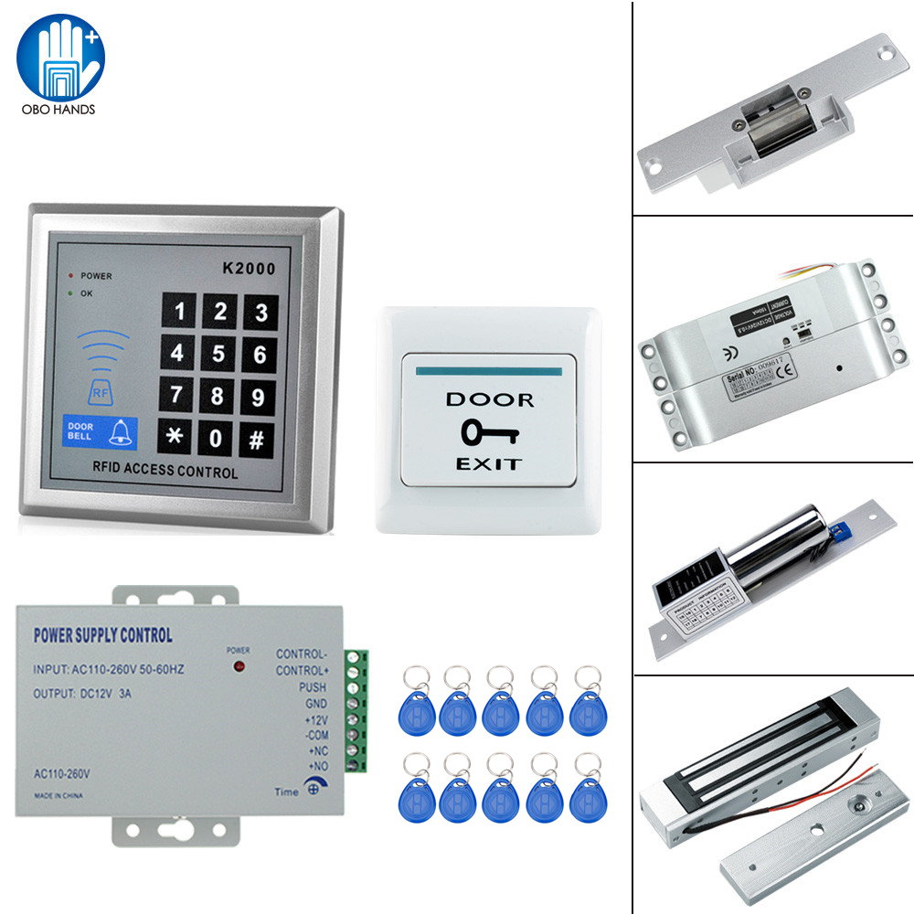 Access Control Kits Security & Protection Original Free Shipping Full Set With Electric Bolt Lock+keypad+power Supply+exit Switch+keys Door Access Control System Kit
