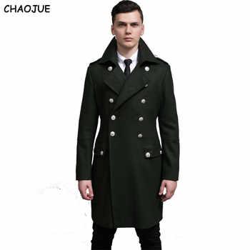 CHAOJUE デザイン男性コートやジャケット S-6XL 特大背ビッグ男性グリーンウールコートドイツ陸軍海軍エンドウコート送料無料 - DISCOUNT ITEM  18% OFF メンズ服