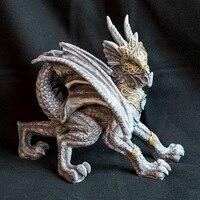 Gravura mão comércio exterior do Oeste da Arte dragão dragão mito Nórdico pedra soldado estátua artesanato ornamentos decorativos conjunto m