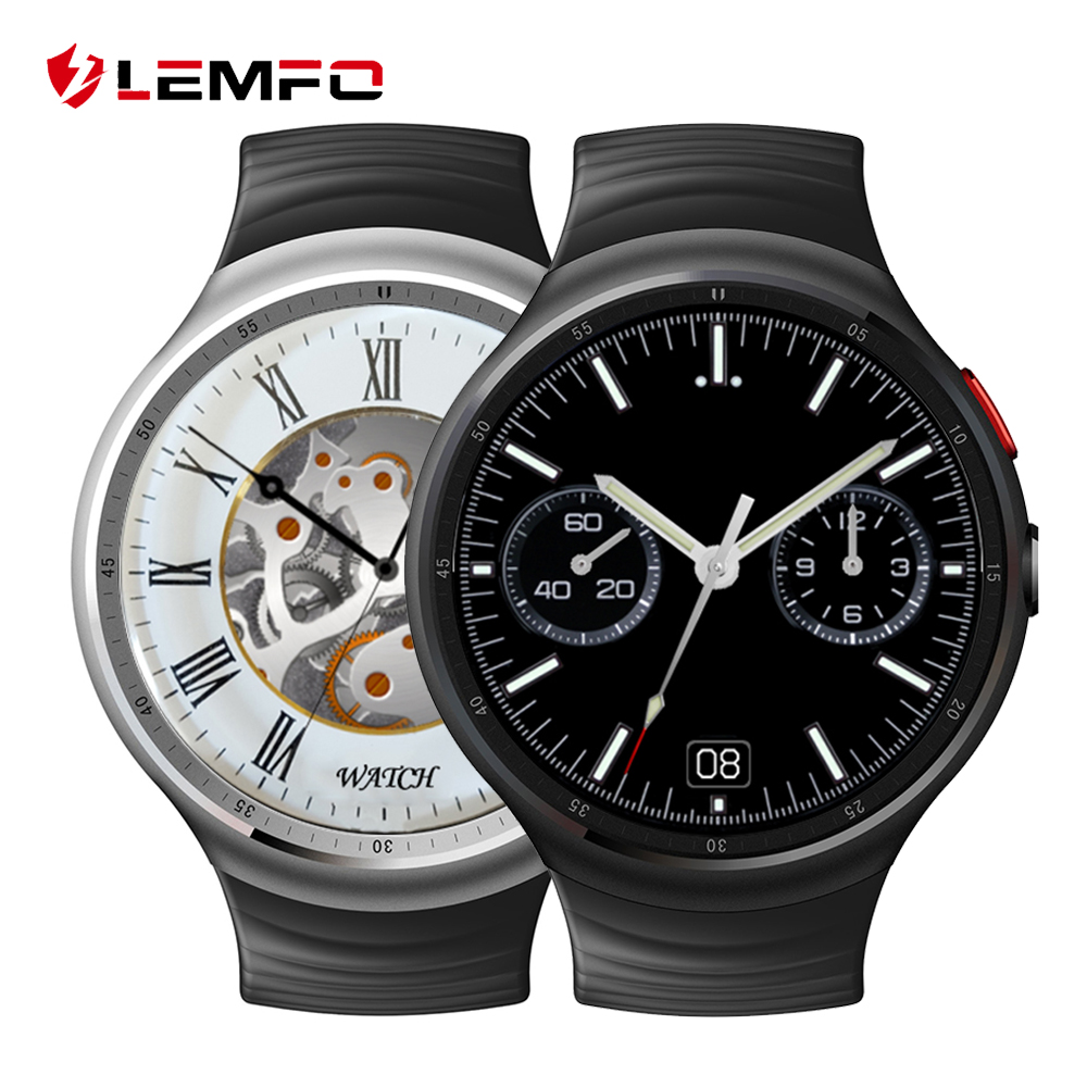 LES1 Smart font b watch b font Android 5 1 OS MTK6580 quad core 1GB 16GB