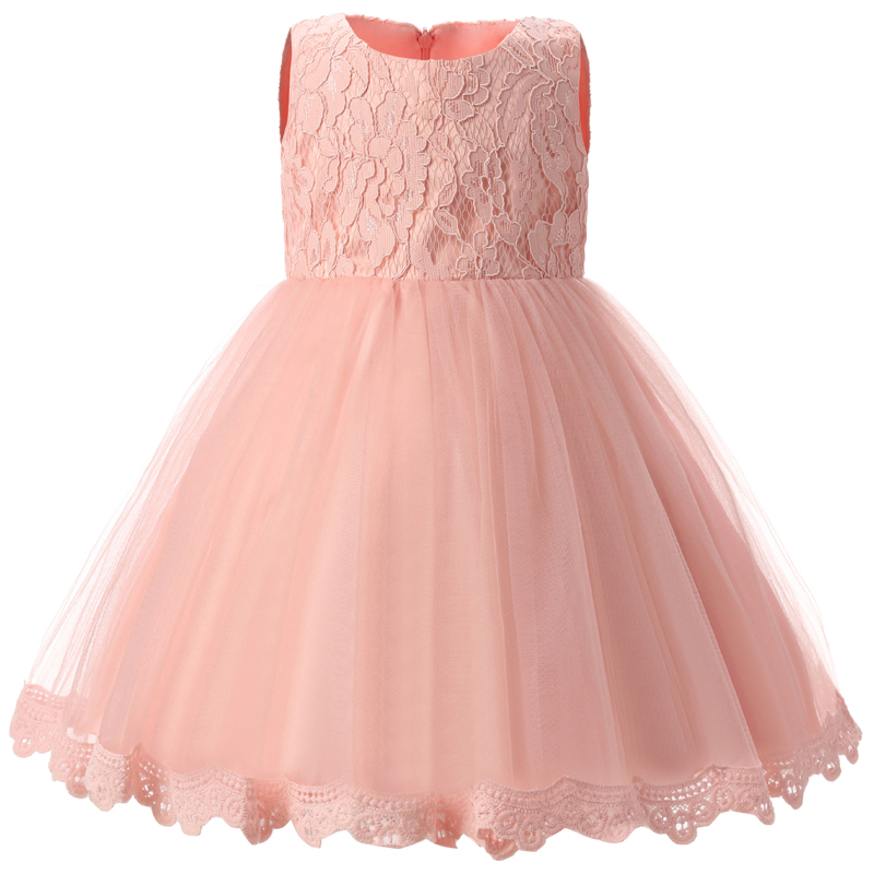 Brand Flower Girl Dress for Wedding Girls Clothes Kids Party Wear Ceremony First Birthday Outfits Little Bebes Evening Prom Gown