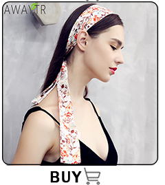 AWAYT Bow Streamers Hair Ring Fashion Ribbon Girl Hair Bands Scrunchies Horsetail Tie Solid Headwear Hair Accessories