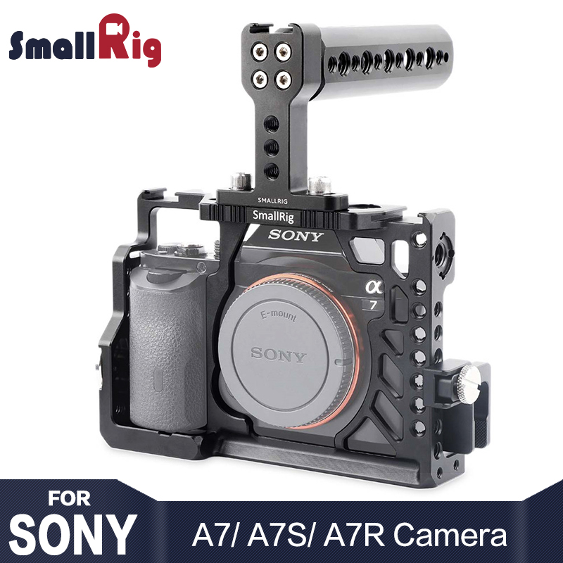 цена на SmallRig Camera Cage Kit For Sony A7 /A7R /A7S Handheld Rig With Top Handle HDMI Cable Clamp Arri Rosette Mount