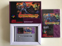 ¡16 bits juegos ** SUPER GHOULS'N fantasmas (versión francesa de PAL! Caja + manual + cartucho!)