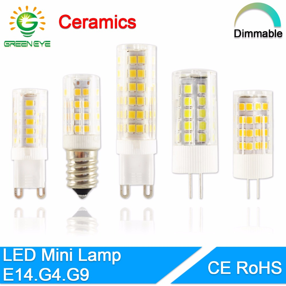 GreenEye G4 Led Lamp Ceramic G9 LED Bulb E14 220V 5W 7W 9W 12W 2835 SMD LED Dimmable Lamps 360 Degree Angle Led Spotlight Lamp