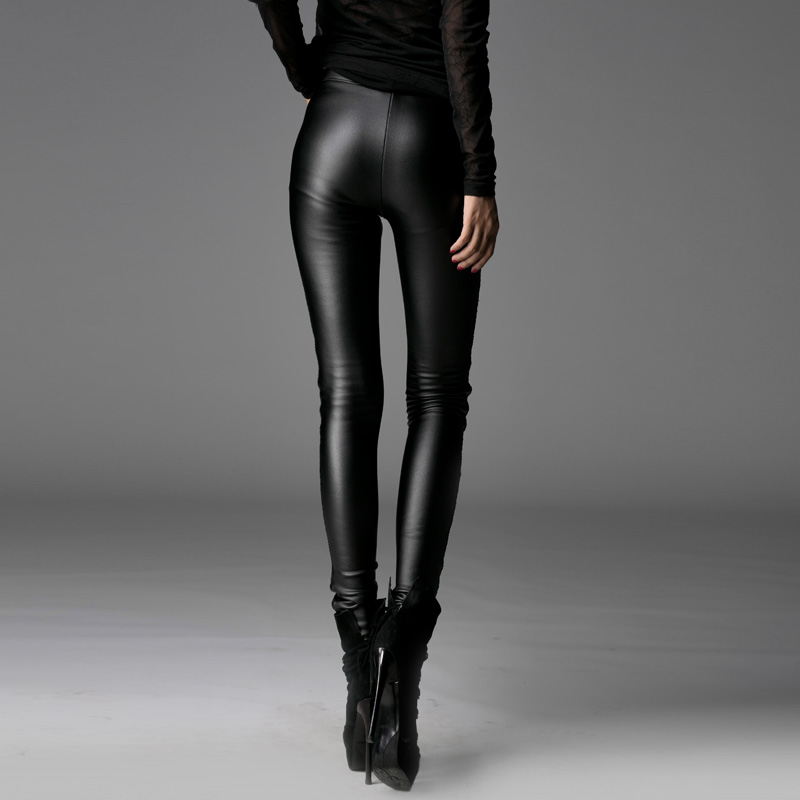 Velours Slim À Maigre Motard Taille Fit Hiver Plus Dentelle Chaud Long La Pantalon Cuir Décoration Haute Pu xvaw6q