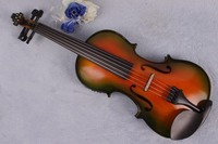 5 string 4/4 electric Acoustic Violin maple Spruce wood Colorful Violin Case Bow #YZ03