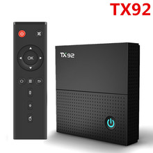 TX92 smart android tv box 7.1 octa core 4K Amlogic S912 3GB 32GB 2.4G/5GHz Wifi BT4.1 Stalker Tanix TX92 gpokhds big size 33 45 high quality hot sale 2017 new style women casual black color cut outs lace up oxfords shoes flats shoes