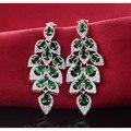 Moonso Четыре цвета Серьги Brinco моды для женщин свадьба ювелирные изделия Стерлингового Серебра 925 CZ Алмазов Циркон G0707 brincos