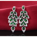 Moonso Quatro cores Brincos Brinco de moda feminina brincos de casamento jóias de Prata Esterlina 925 CZ Diamante Zircon G0707