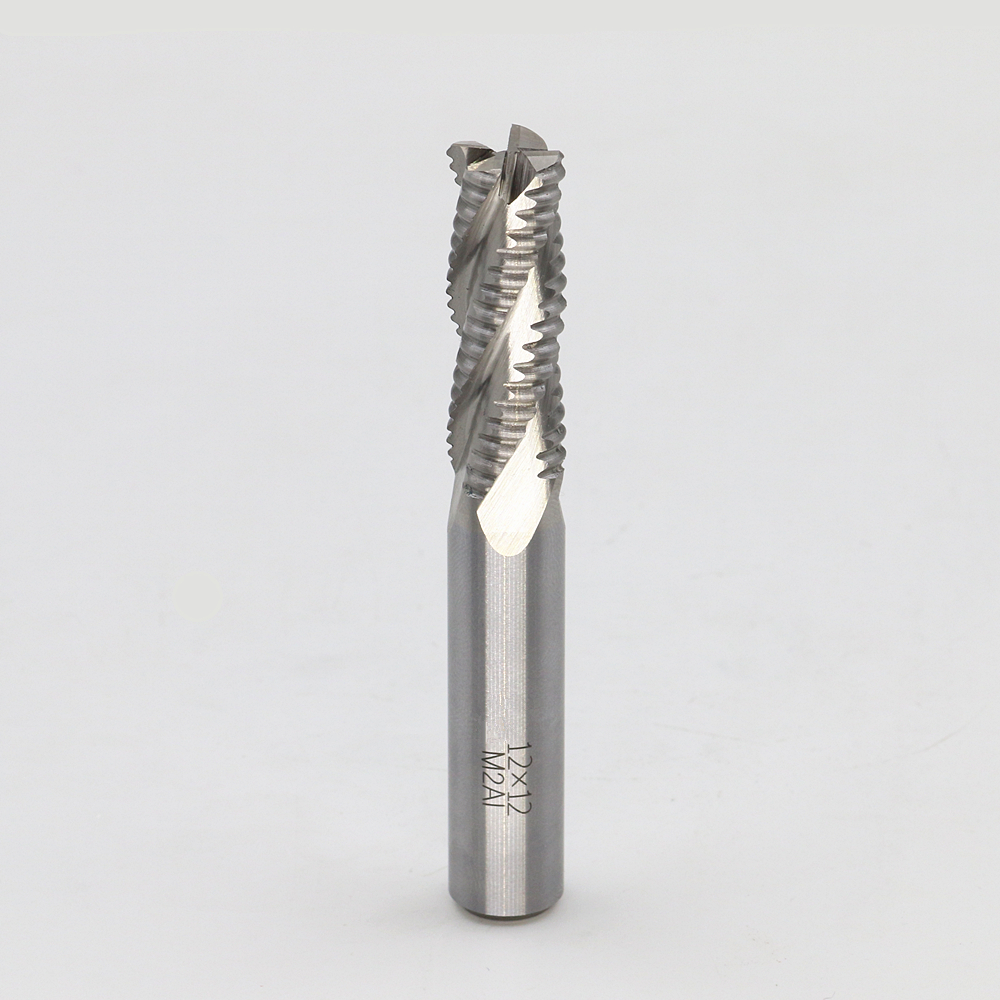 New 4flute M2AI dia 12mm end milling cutter machine tool Roughing cutter CNC tools  Super-hard high speed steel 4F12*12*35*85  цены