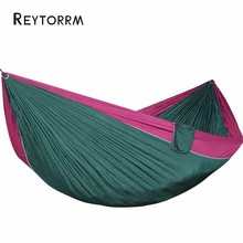 2 3 Person Ultralight Portable Hammock For Camping Travel Hiking Picnic Hanging Swing Seat Hamac Tree Bed