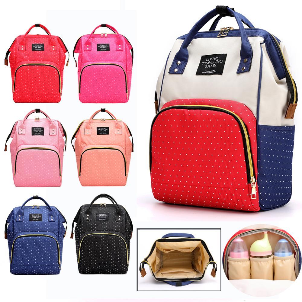 2020 Mummy Backpack Zipper Diaper Baby Bag Multifunctional Nursing Bag Backpack Baby Care Large Capacity Travel Maternity Bag