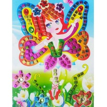 3D Children Puzzle DIY Crystal Mosaic Sticker Kids Children Kindergarten Educational Arts and Crafts Toys 12Pcs/Set
