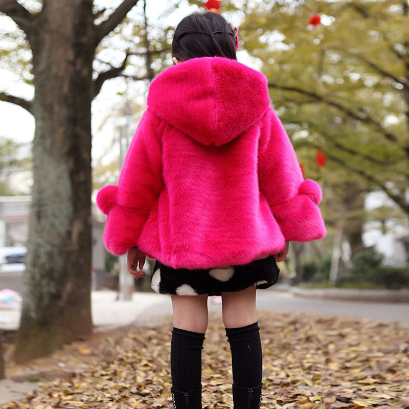 73b60e2eb 2018 Winter Baby Girls Clothes Faux Fur Jackets Thick Warm Kids Coat ...