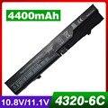4400 mah batería del ordenador portátil para hp 420 425 4320 t 620 625 probook 4320 s 4321 s 4325 s 4326 s 4420 s 4421 s 4425 s 4520 s 4525 s