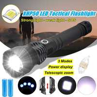 COB LED flashlight 40000lm Smuxi Portable Work Lamp XHP50 Magnetic zoomable Worklight 3 modes Rechargeable waterproof
