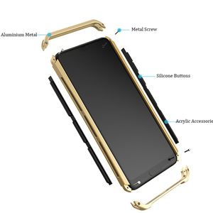 Image 3 - Soinmy Shockproof Armor Case For Huawei P20 case aluminum Metal Frame Hard PC Cover For Huawei p10 plus mate 10 honor V 8 Coques