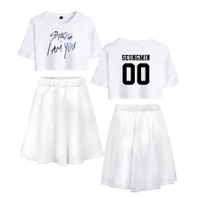 LUCKYFRIDAYF K-pop Summer Stray Kids I Am You Pop Short skirt suit Fashion Women's Dress Cool Soft Idol Print Clothing Plus 2XL цена 2017