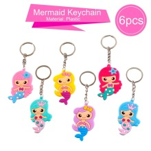Mermaid Party Decor Keychain Necklace Ring Favor Birthday Kids Baby Shower