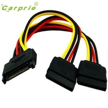 Connector Cable 15Pin SATA Male To 2 Female 15Pin Power HDD Splitter Feb13 CARPRIE MotherLander