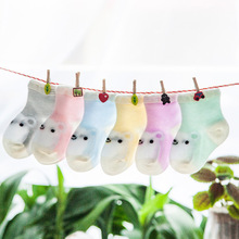 4 pairs / baby socks 2016 summer cotton fashion cartoon thin section mesh Duantong children socks 0-3 years old boy/girl socks