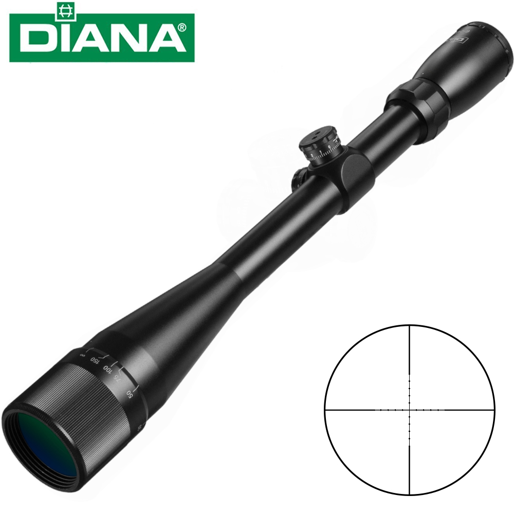 DIANA 6 24x42 AO Tactical Riflescope Mil Dot Reticle Optical Sight Rifle Scope Airsoft Sniper Rifle