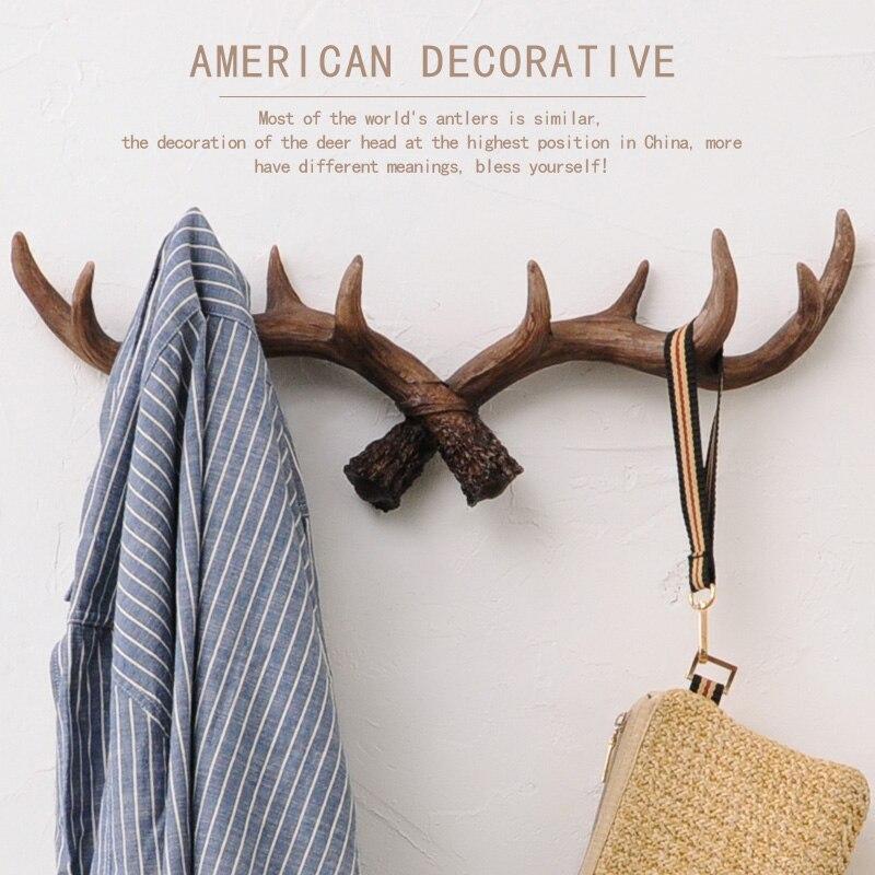 Novelty Wildlife Deer Antlers Rack Decorative Wall Hook Hanger Home ...