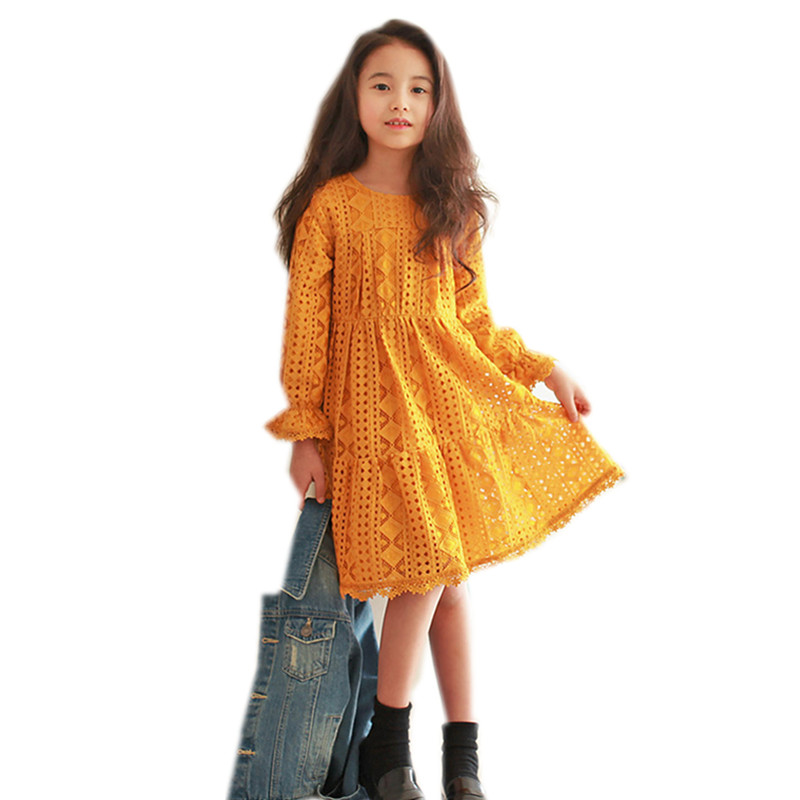4 to 14 years kids & teenager girls petal lng sleeve lace princess party fall winter dress children fashion elegant dresses насосная станция unipump акваробот eco vint 1 50