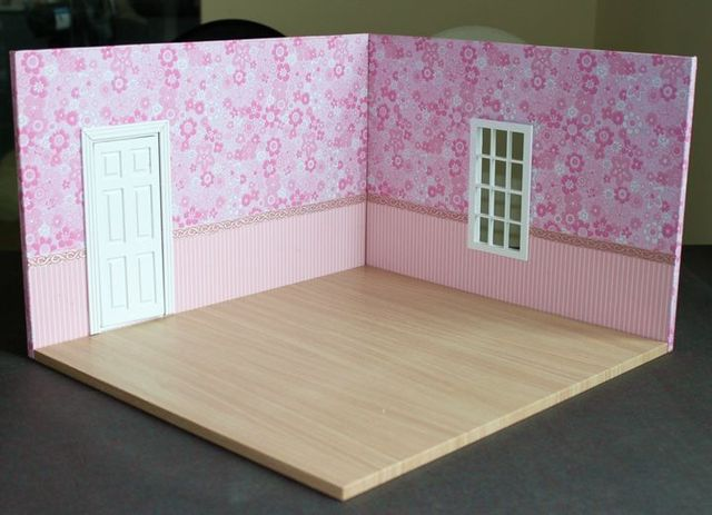 2014 New Arrival 1 12 Scale Large Dollhouse Mini Model Background