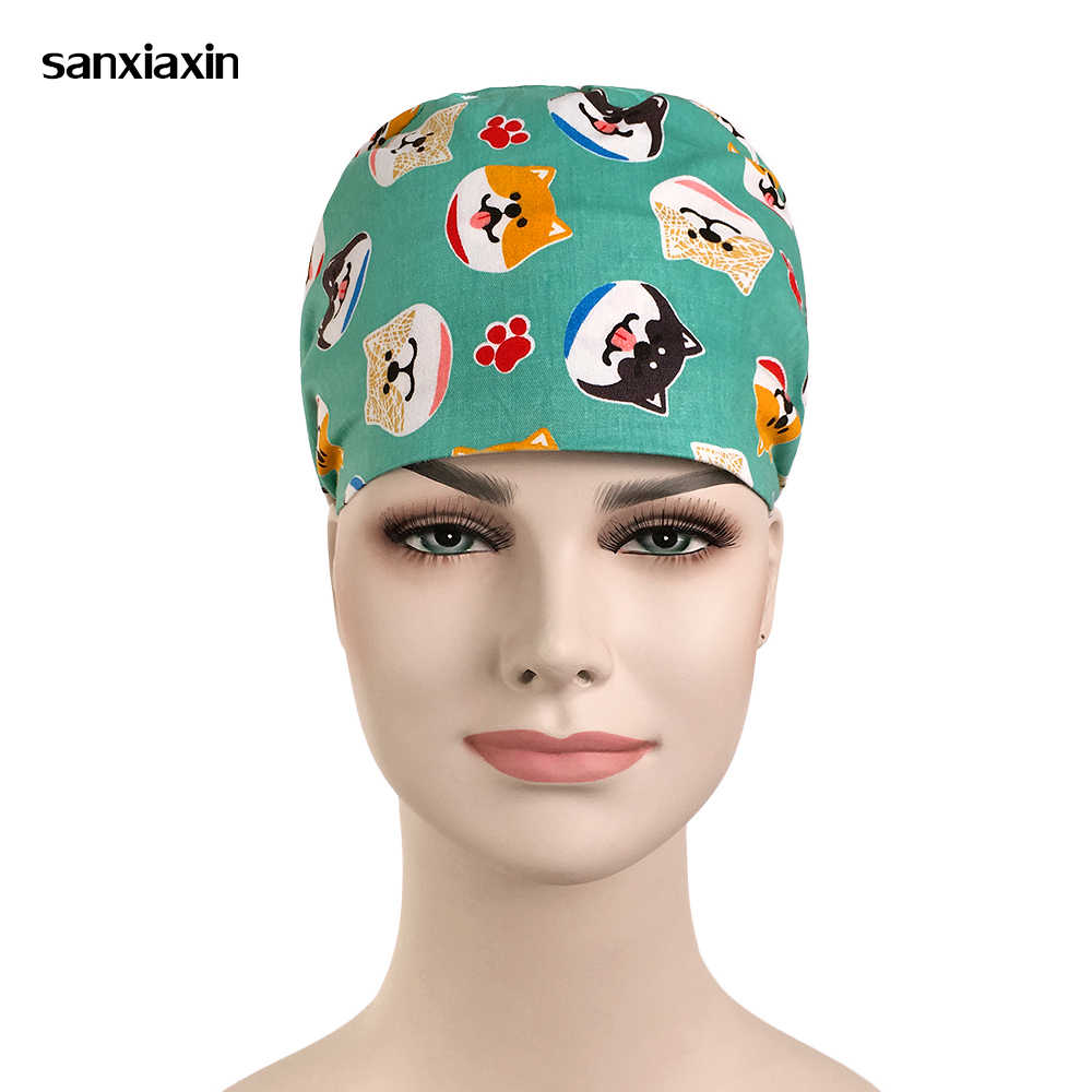 Новая ветеринарная хирургическая Кепка для собак, для женщин и мужчин, медицинская шапочка, шеф-повара, доктора, медсестры, хлопковая регулируемая, Sweatband, стоматологическая плита, Рабочая кепка s