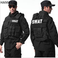 HANWILD Man's Tactical Vest Bulletproof Vest Molle Tactical Swat Police Outdoor Camouflage Military Body Armor Wear Hunting