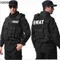 HANWILD hombre Molle Táctico Swat Chaleco Táctico Chaleco Antibalas Policía Body Armor Caza Ropa de Camuflaje Militar Al Aire Libre