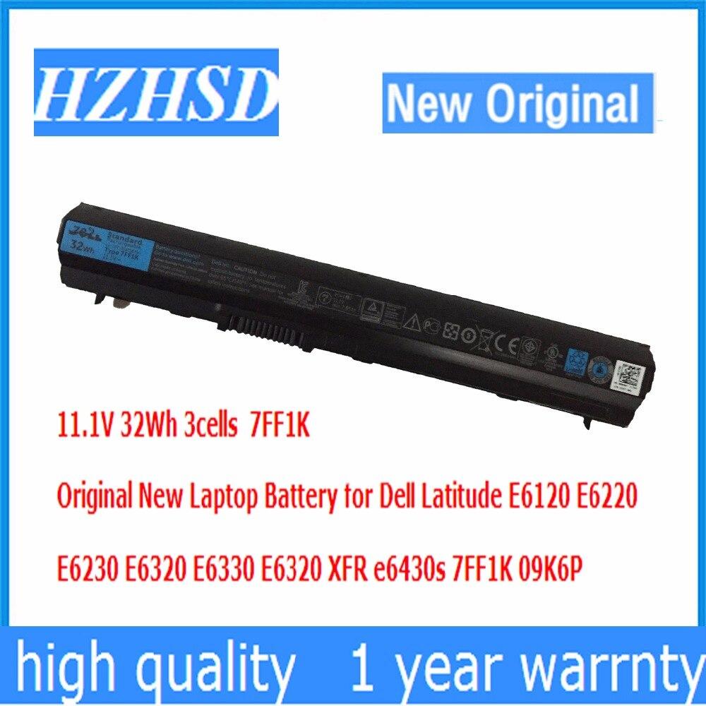 11.1V 32Wh 3cells 7FF1K Original New Laptop Battery for Dell LatitudeE6120 E6220 E6230 E6320 E6330 E6320 XFR e6430s 7FF1K 09K6P цены