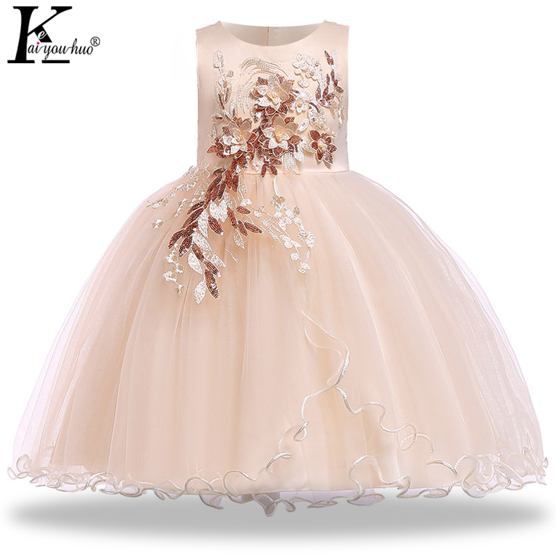 New Year Costume For Kids Dresses For Girls Wedding Dress Summer Embroidery Carnival Party Princess Dress Toddler Girls Clothes