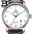 Suíça de relógios de luxo homens brand18k ouro relógios de pulso binger negócio relógios mecânicos pulseira de couro b5005b-2