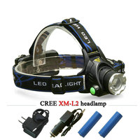 Cree Headlight Led Headlamp Xm L T6 Xm L2 Waterproof Zoom Head Lamp 18650 Rechargeable Battery