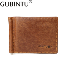 Slim Money Clip Brand Men Women Genuine Leather Bifold Male Purse Billfold Wallet Money Clip Female Clamp for Money Case цены