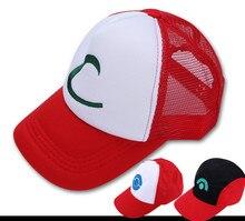 50 шт./лот Горячие Продажа Новая Мода Мальчики и Девочки Летом Случайные Pokemon Hat 4 Конструкций Симпатичные Косплей Cap